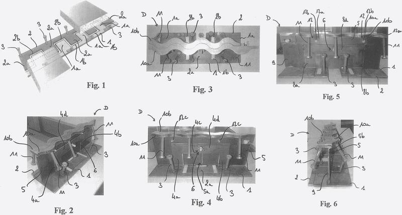 Sistema de encofrado que comprende una junta de dilatación mejorada.