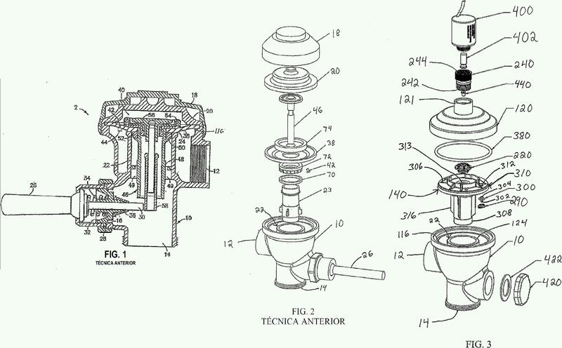 Válvula de pistón rígida que incorpora un solenoide.