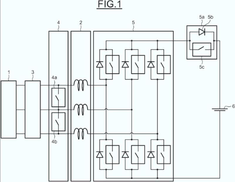 Sistema y procedimiento de carga de la batería de un vehículo híbrido.