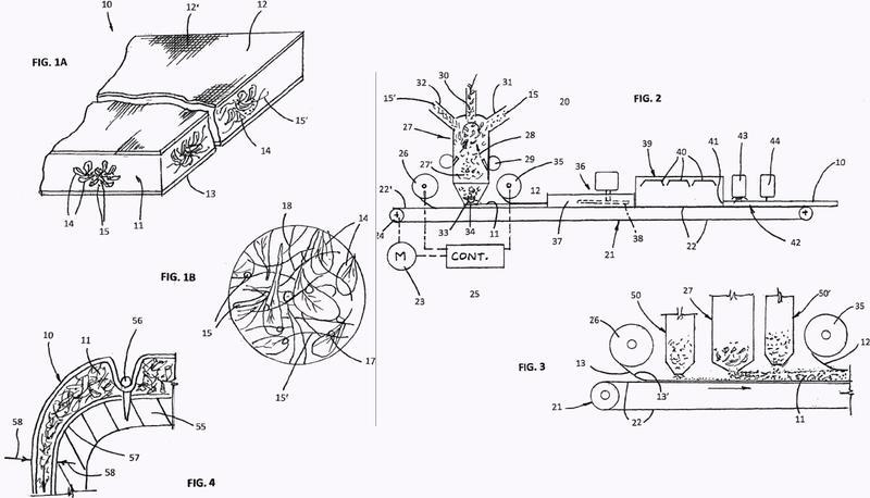 Lámina de plumón estirable, térmicamente aislante, y procedimiento de fabricación.