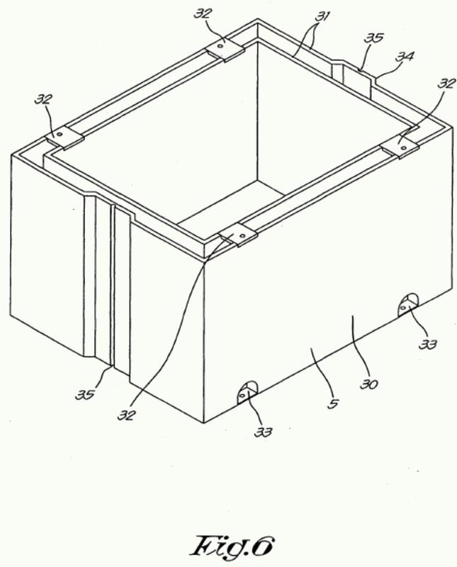 Dispositivo para producir una zanja reforzada.