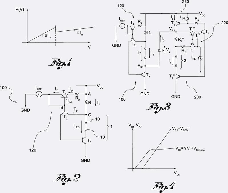 Circuito excitador de fuentes de luz y luz de vehículo provista de dicho circuito excitador de fuentes de luz.