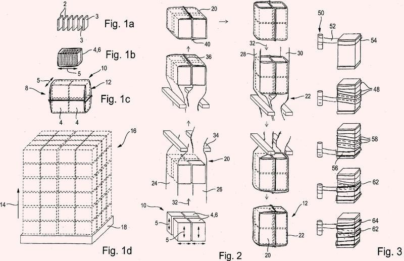 Conjunto paletizado o paletizable y procedimiento para su fabricación.