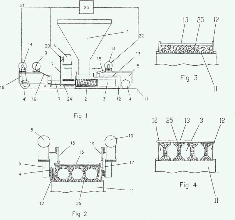 Método y aparato para fabricar un producto de concreto.