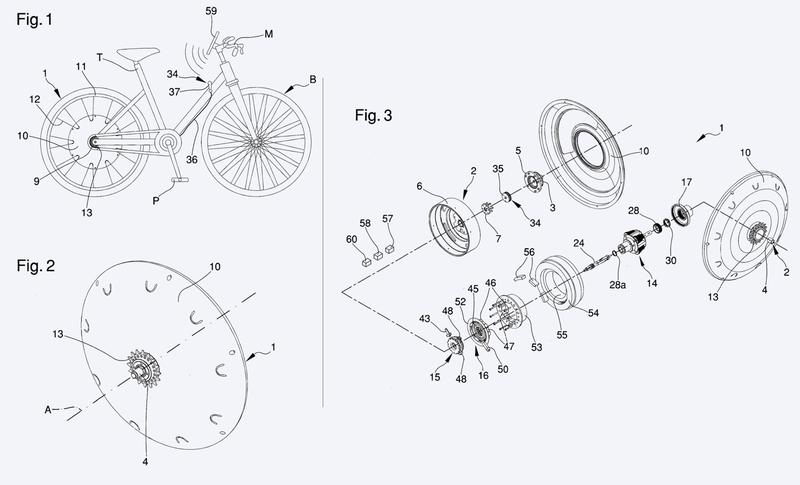 Rueda para bicicletas de pedal asistido.