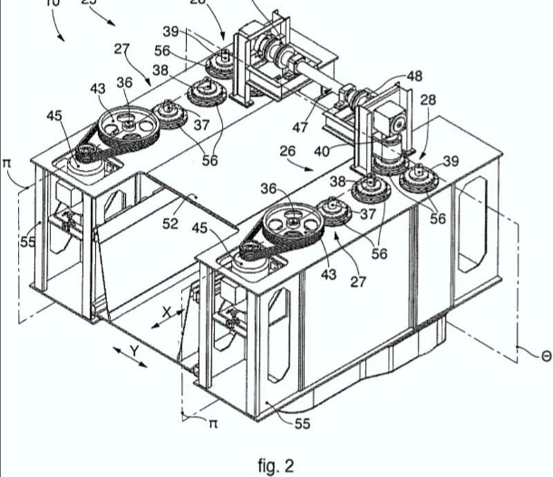 Dispositivo de vibración para el transporte de una carga metálica a una planta de fusión.