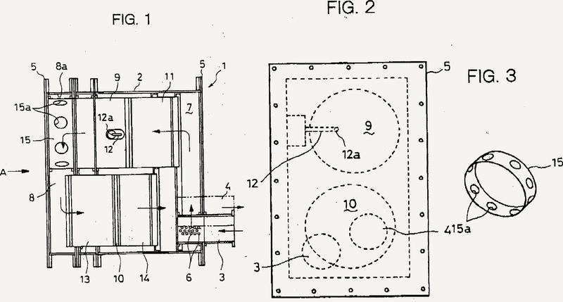 Dispositivo silenciador con función de purificación de gases de escape.