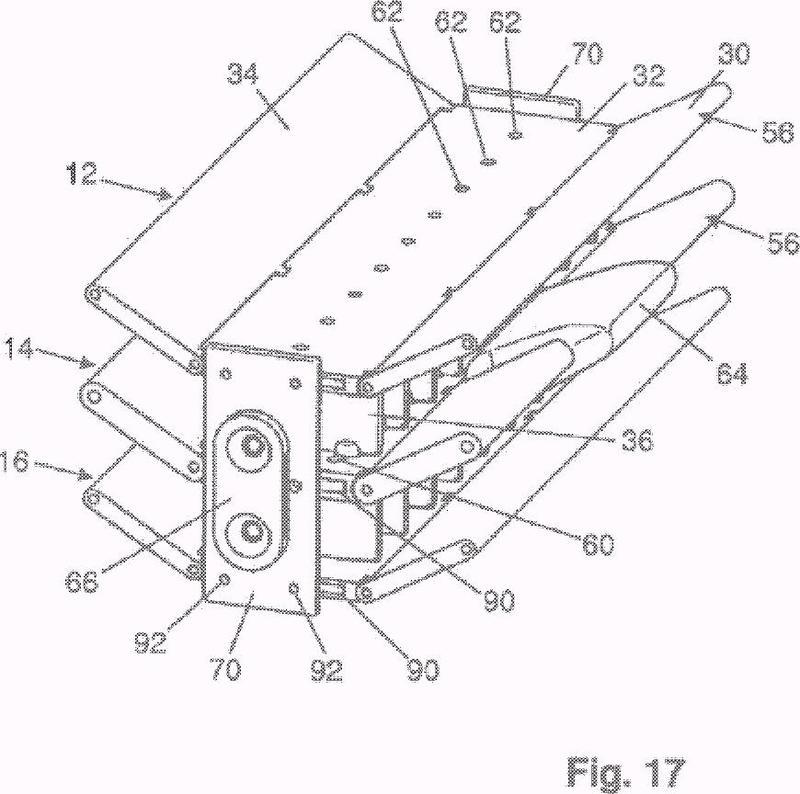 Dispositivo de salida de aire con elementos conductores de aire configurados con varias partes.