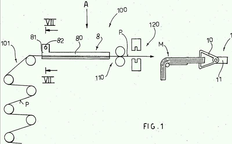 Dispositivo y método para el control automático de asas de bolsas de plástico.