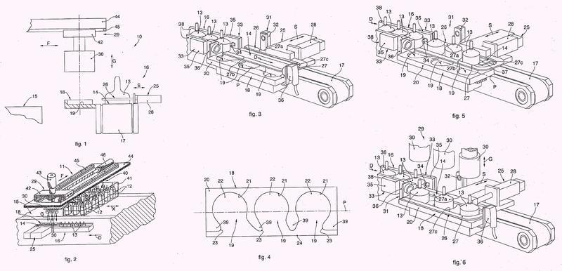 Aparato y método para el transporte de tapas para recipientes.