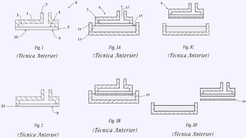 Fabricación de cuerpos semiconductores a partir de material fundido utilizando una chapa de interposición auto-sostenida.