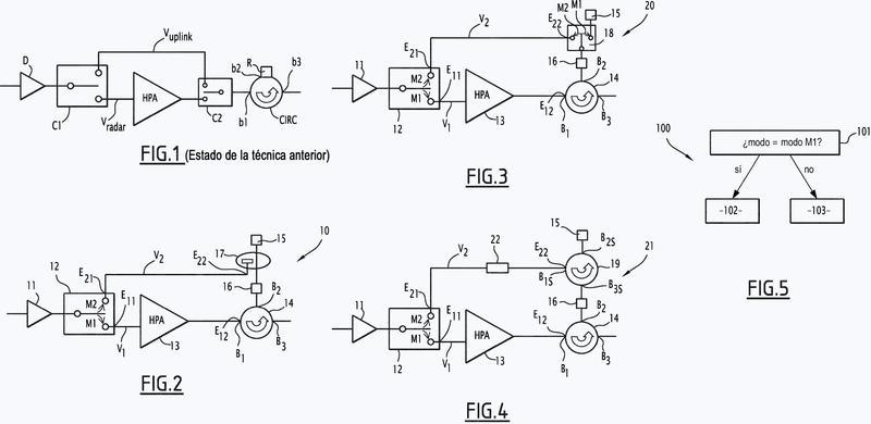 Módulo de transmisión y procedimiento de aplicación asociado de modos de funcionamiento múltiples.