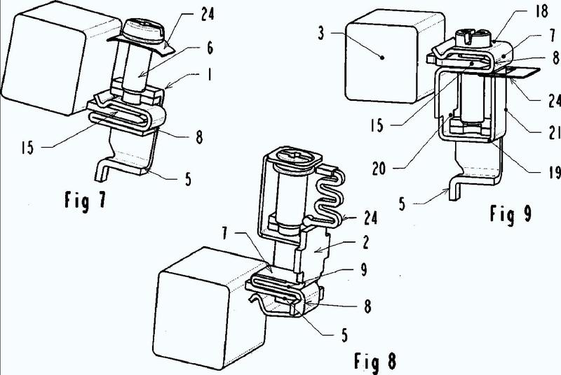 Borne de conexión eléctrica y aparato eléctrico de corte que incluye un borne de este tipo.