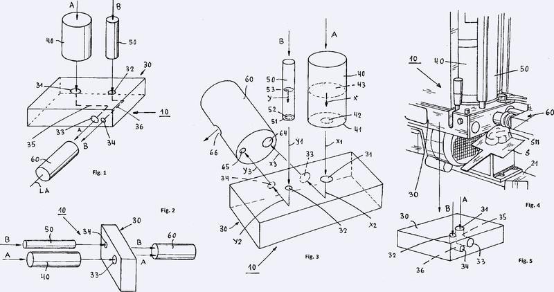 Aparato para fabricar una masilla tapaporos lista para su uso mediante el mezclado de un componente aglutinante y un componente endurecedor y su uso.