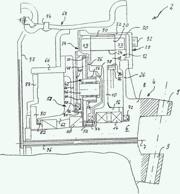Motor eléctrico y unidad de accionamiento eléctrica para un automóvil.