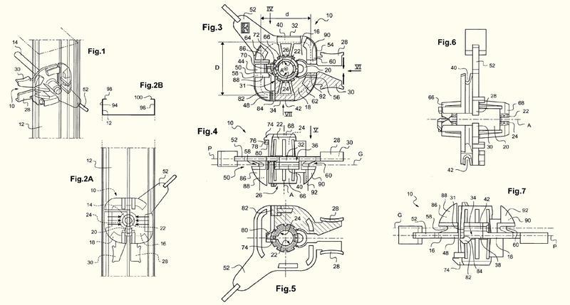 Dispositivo de fijación regulable con pinza.