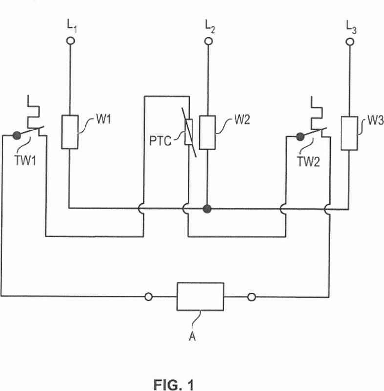 Circuito de protección térmica y de regulación de potencia de motores eléctricos.