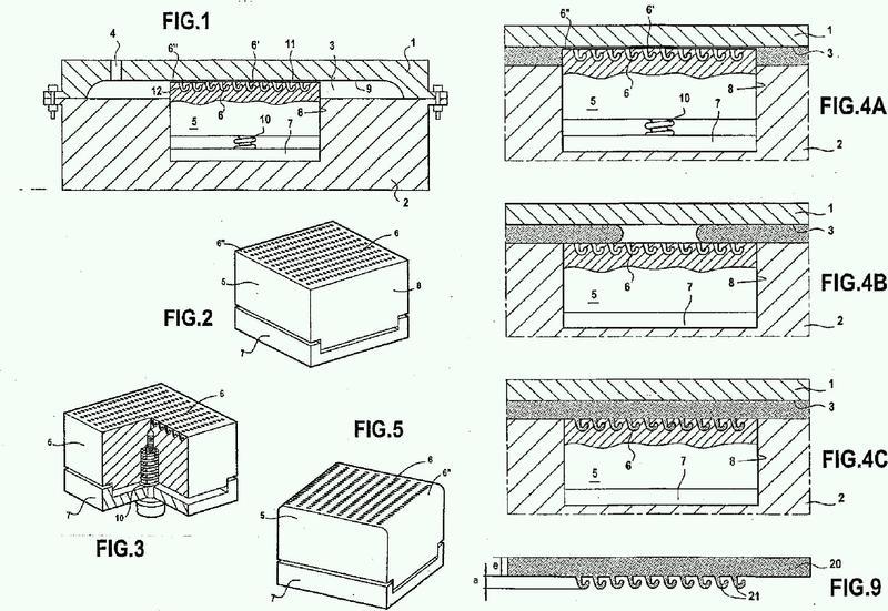 Dispositivo para moldear por inyección un objeto que consta de un campo de ganchos.