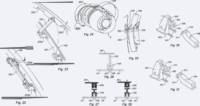 Conjunto de mantenimiento de la interfaz de una estructura externa fija de una góndola y de un cárter de turborreactor.