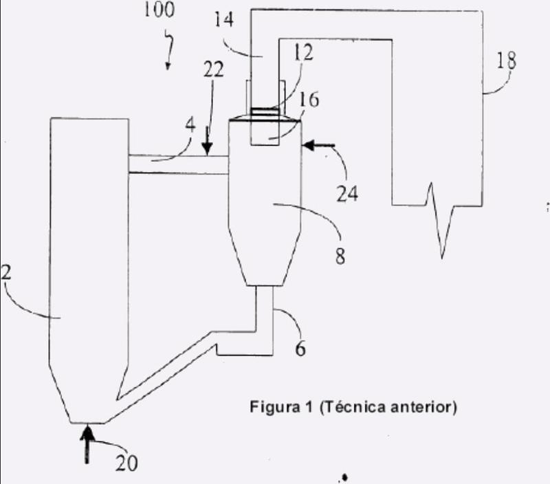 Sistema de reducción de emisiones de NOx procedentes de un sistema de combustión en lecho fluidizado.