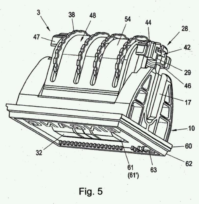 Portatipos de sello manual así como rueda de accionamiento para ello.