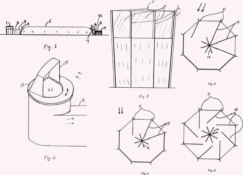 Métodos y aparatos para presurizar y ventilar eficientemente una estructura soportada por aire.