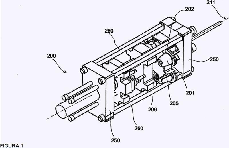 Prensa para recalcar un extremo de un tubo de material metálico.