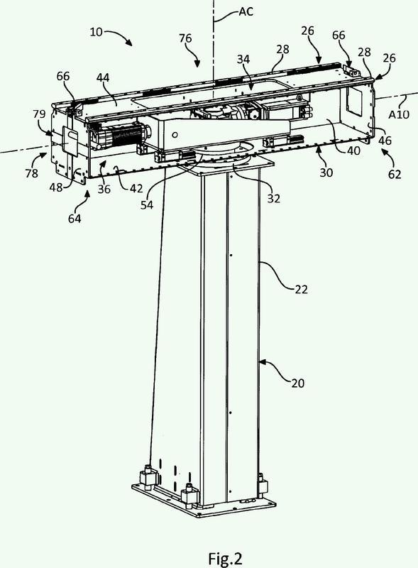 Módulo de transferencia de un carro robotizado entre unos elementos de guiado no dispuestos extremo contra extremo y adyacentes.