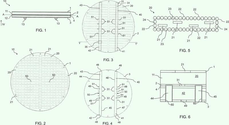 Antena de matriz de ranuras con alimentación de guía de onda y proceso para producir dicha antena.