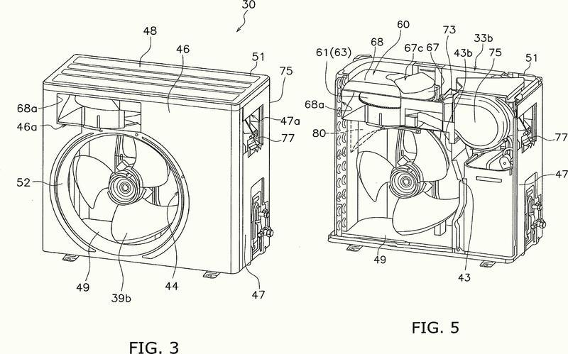 Unidad exterior de acondicionador de aire.