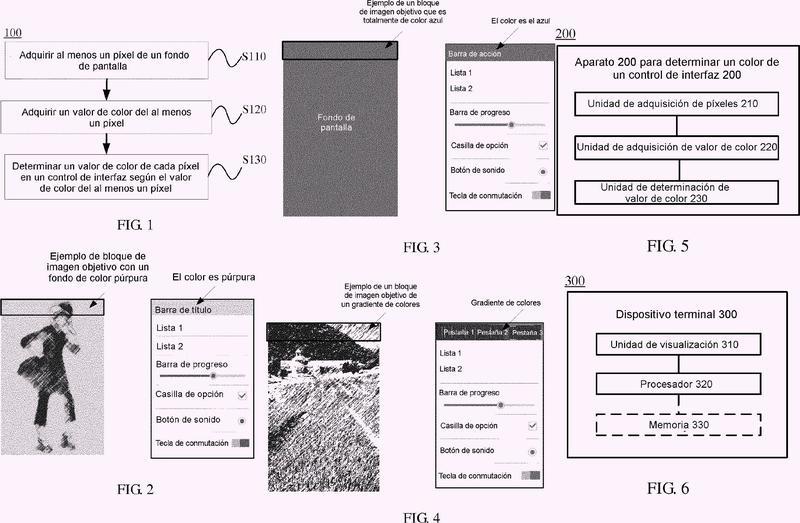 Procedimiento y aparato para determinar el color de un control de interfaz, y dispositivo terminal.