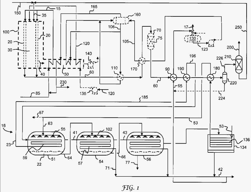 Sistema y proceso para producir un gas que contiene H2 y agua purificada.