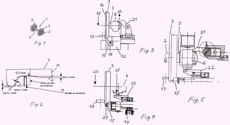 Procedimiento para reperfilar ejes montados sobre tornos de foso para ejes montados.