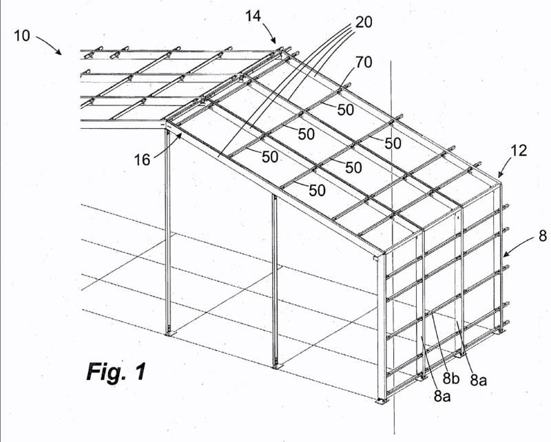 Construcción de pared o de tejado.