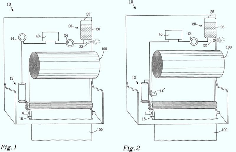 Dispensador electrónico y ambientador de aire combinados.