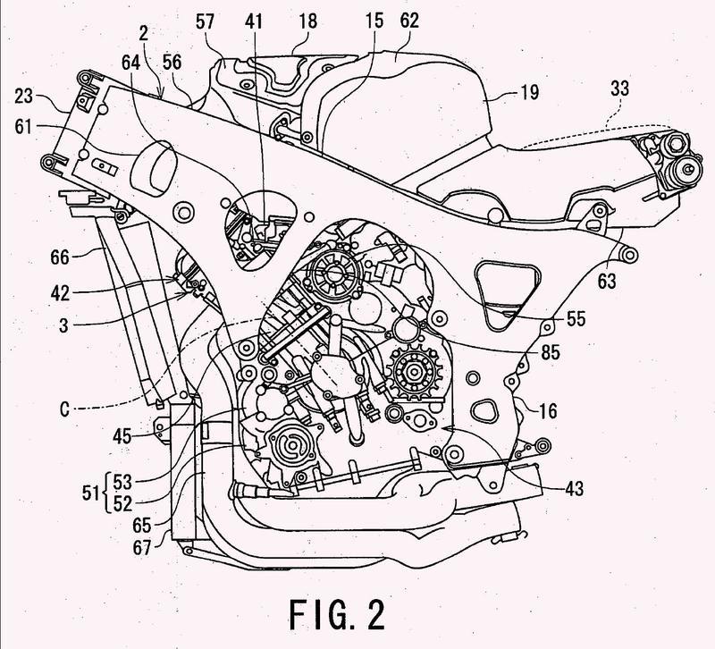 Estructura de admisión de motocicleta.