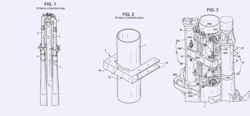 Procedimiento y aparato de reparación de una tubería de subida con compresión.