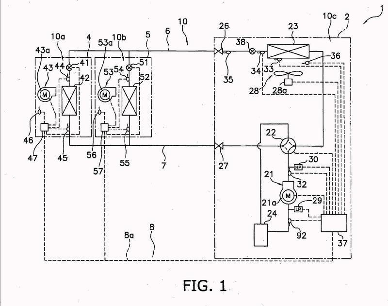 Acondicionador de aire que comprende un intercambiador de calor.