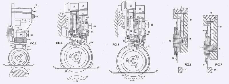 Máquina cortadora de bobinas con control de motor electrónico.
