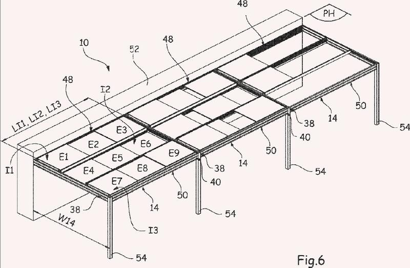 Dispositivo de cubierta con elementos de cubierta deslizantes.
