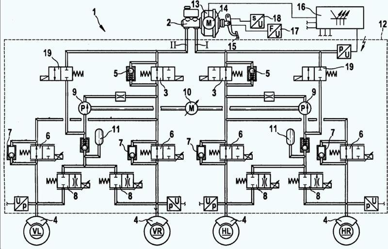 Procedimiento para hacer funcionar un sistema de freno de vehículo hidráulico que presenta un dispositivo de regulación antibloqueo.