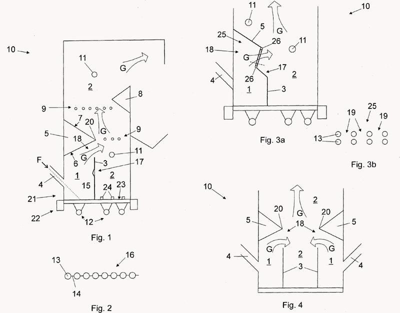 Disposición y método en caldera utilizando tecnología de lecho fluidizado.