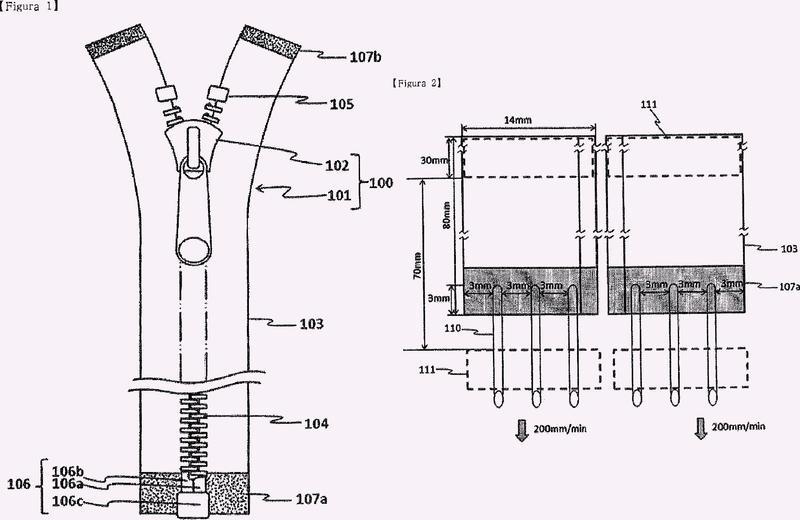 Cadena de cierre de cremallera con tope terminal inferior separable y procedimiento para producir dicha cadena de cierre de cremallera.