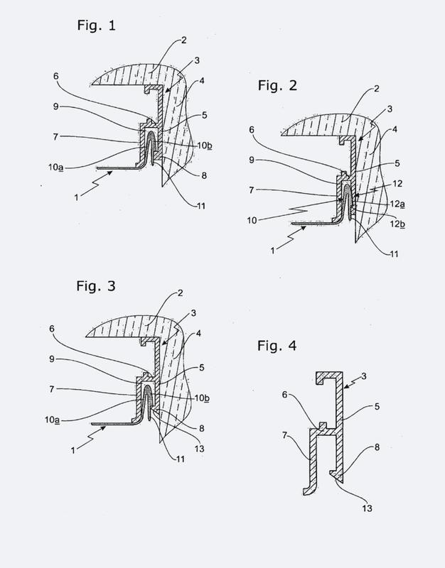 Sistema de fijación de falsa pared por medio de una vigueta de tamaño reducido.