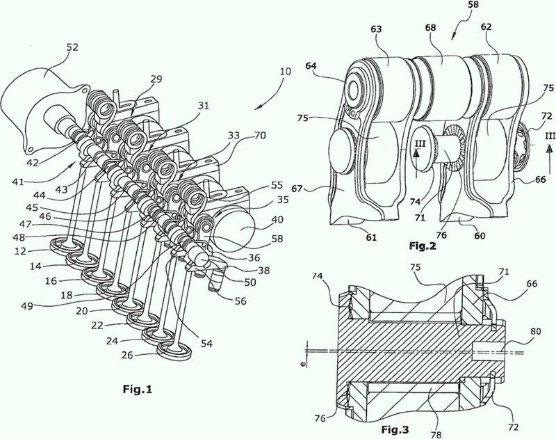 Disposición de accionamiento de válvulas controlable mecánicamente.