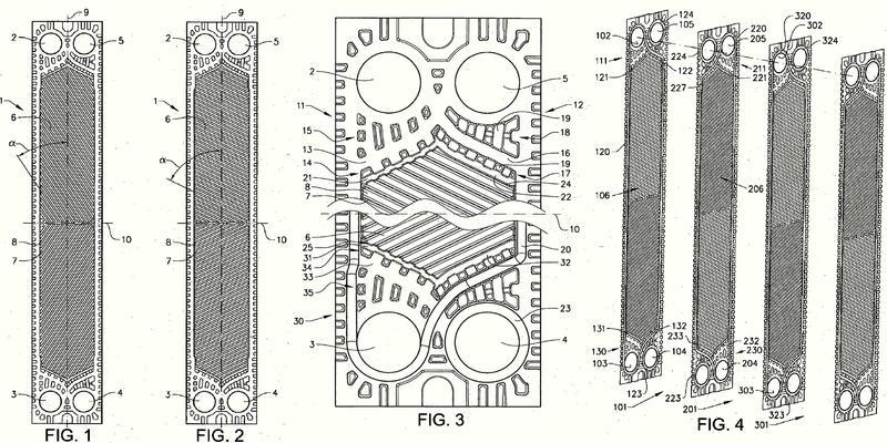 Placa intercambiadora de calor e intercambiador de calor.