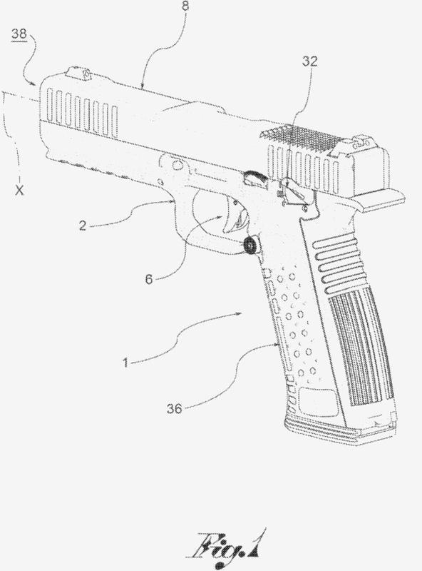 Arma de fuego y percutor.