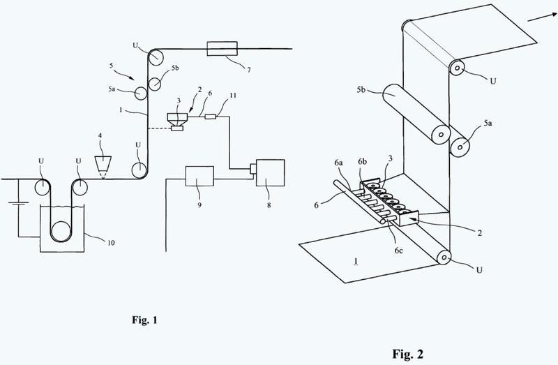 Procedimiento para la aplicación de una solución de tratamiento acuosa sobre la superficie de una cinta de acero en movimiento.