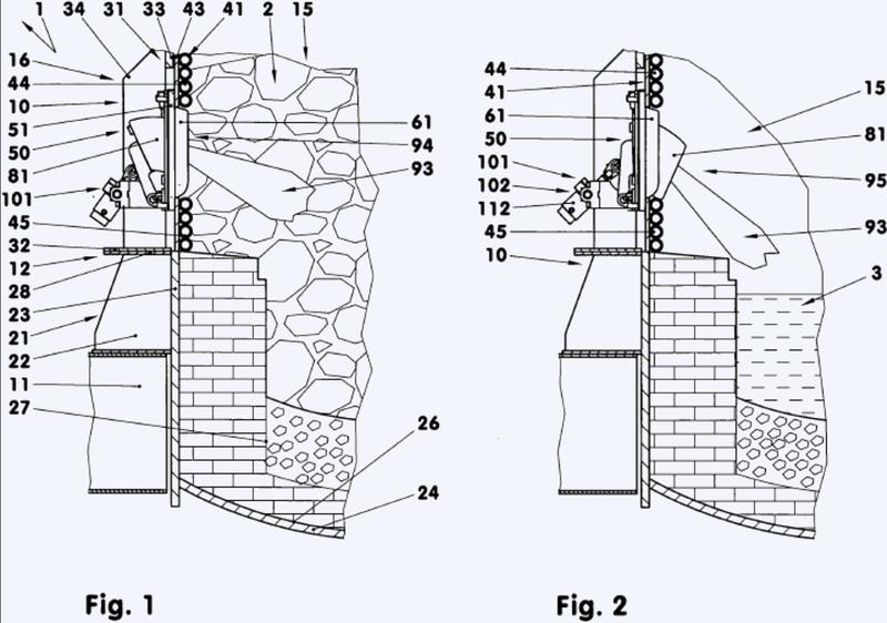 Unidad de inserción con caja estructural y dispositivo de soporte para el suministro de una sustancia de operación, así como horno de arco eléctrico equipado con la mencionada unidad, y procedimiento para operar un horno de arco eléctrico de esta clase.