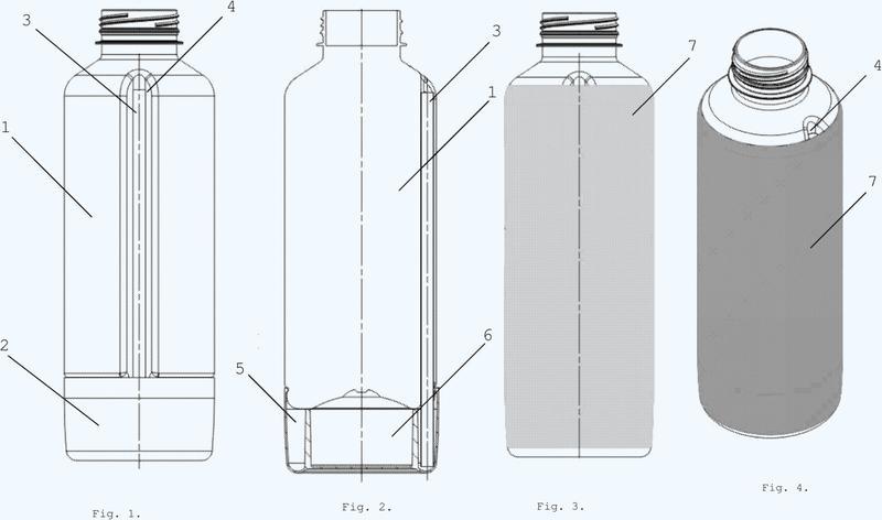 Conjunto que comprende una botella con pajita y falso fondo y método para preparar una bebida con bolas aromatizantes de gel que la usan.